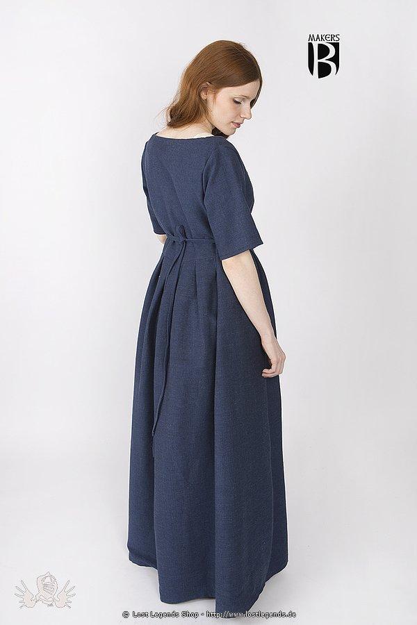 Mittelalterkleid Frideswinde, blau