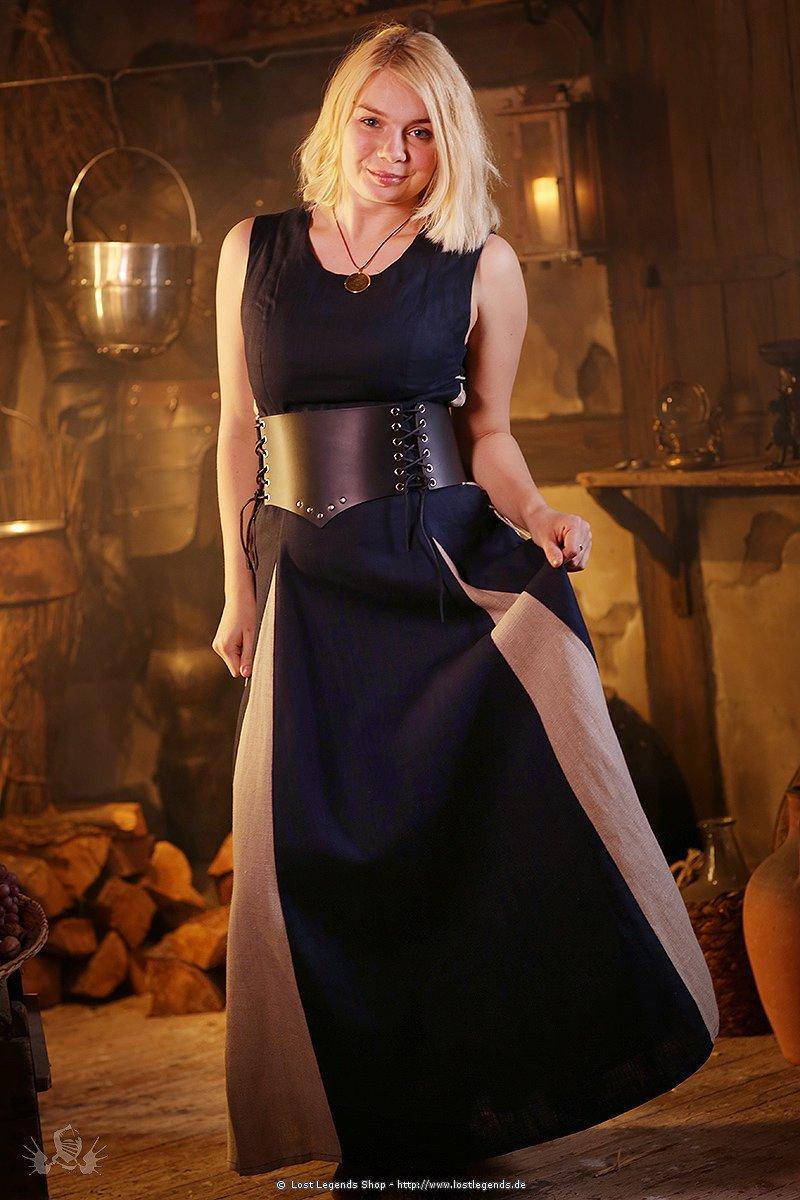 Mittelalterkleid Marketenderin aus Leinen