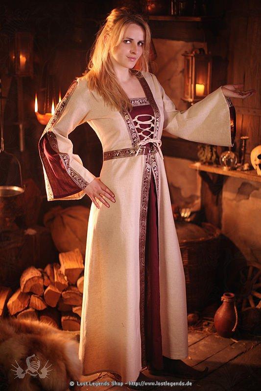 Mittelalterkleid mit Bordüren