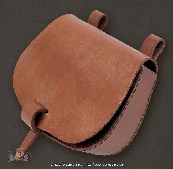 Mittelalterliche Gürteltasche aus Leder