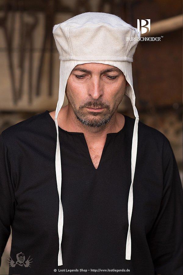 Mittelalterliche Kappe Hugo, natur