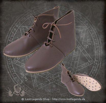 Mittelalterliche Schnürschuhe halbhoch