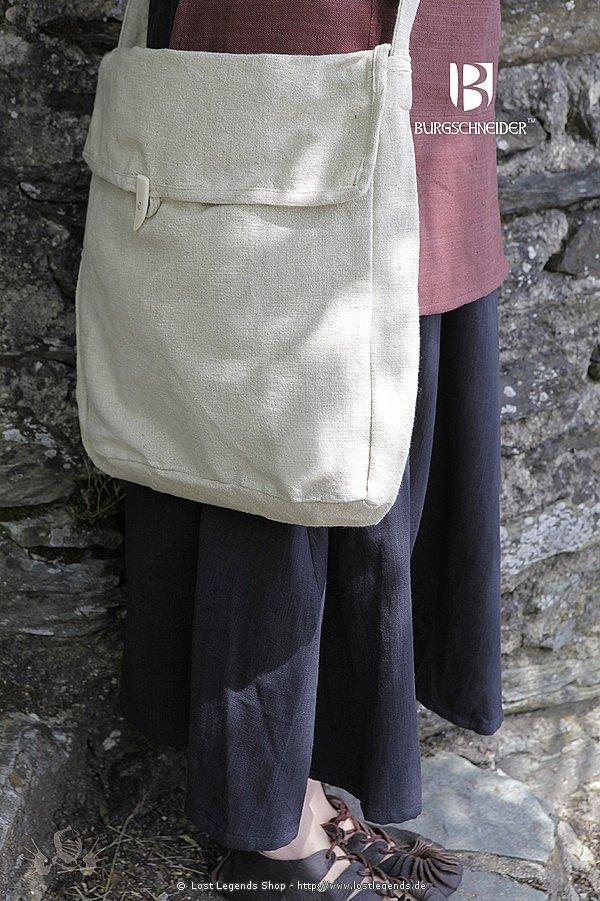 Mittelalterliche Stofftasche Ehwaz, hanffarben