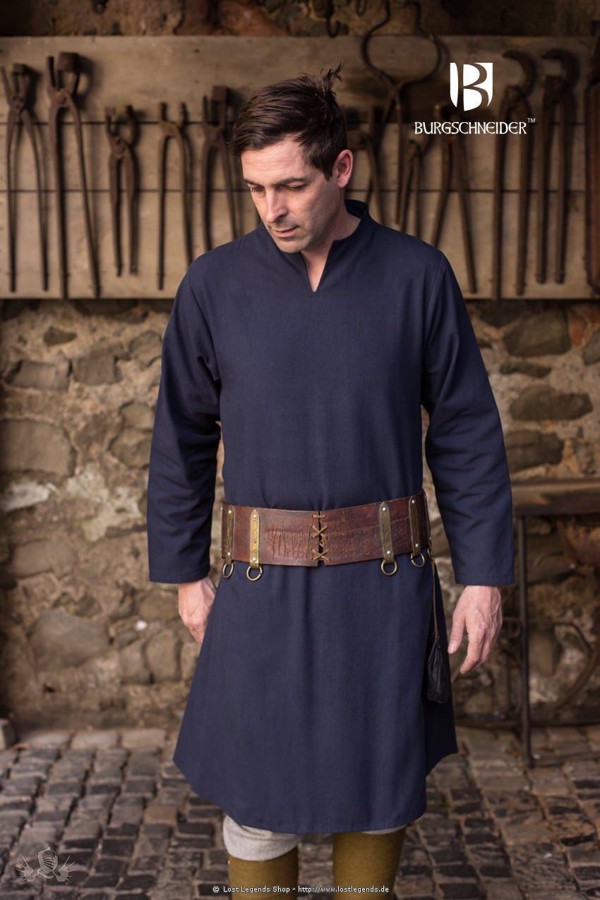 Mittelalterliche Tunika Ekwin, dunkelblau