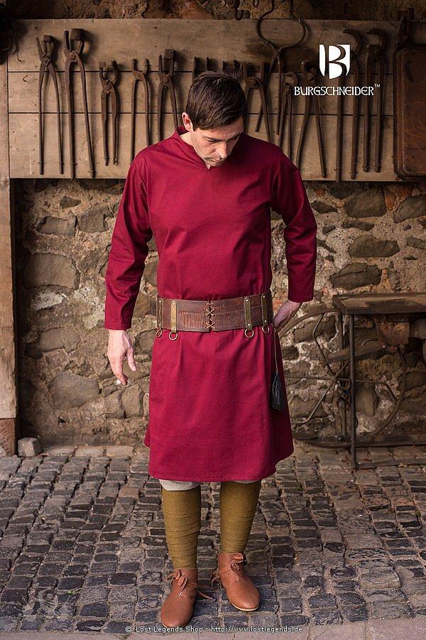 Mittelalterliche Tunika Ekwin, Rot