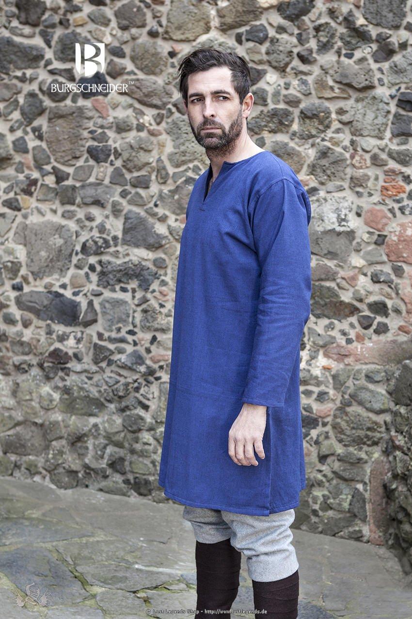Mittelalterliche Untertunika Leif, blau