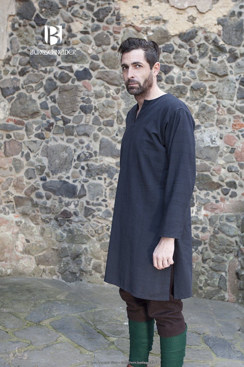 Mittelalterliche Untertunika Leif, schwarz