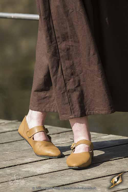 Mittelalterlicher Damen Schuh Astrid natur