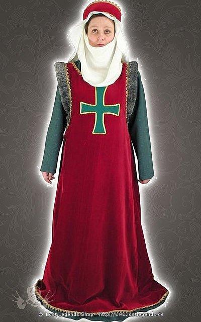 Mittelalterlicher Hochadel Cotte mit Überkleid