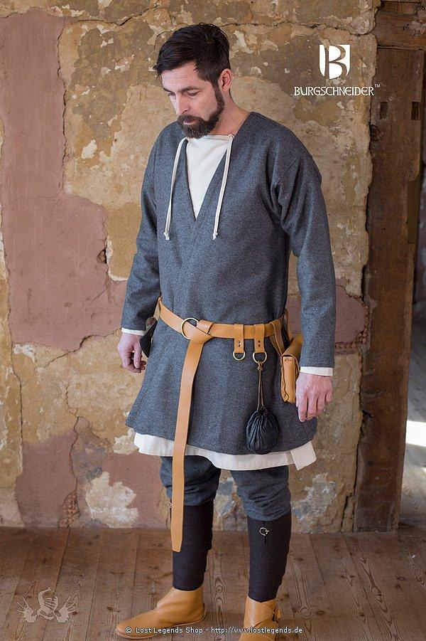 Mittelalterlicher Klappenrock Loki, Dungelgrau