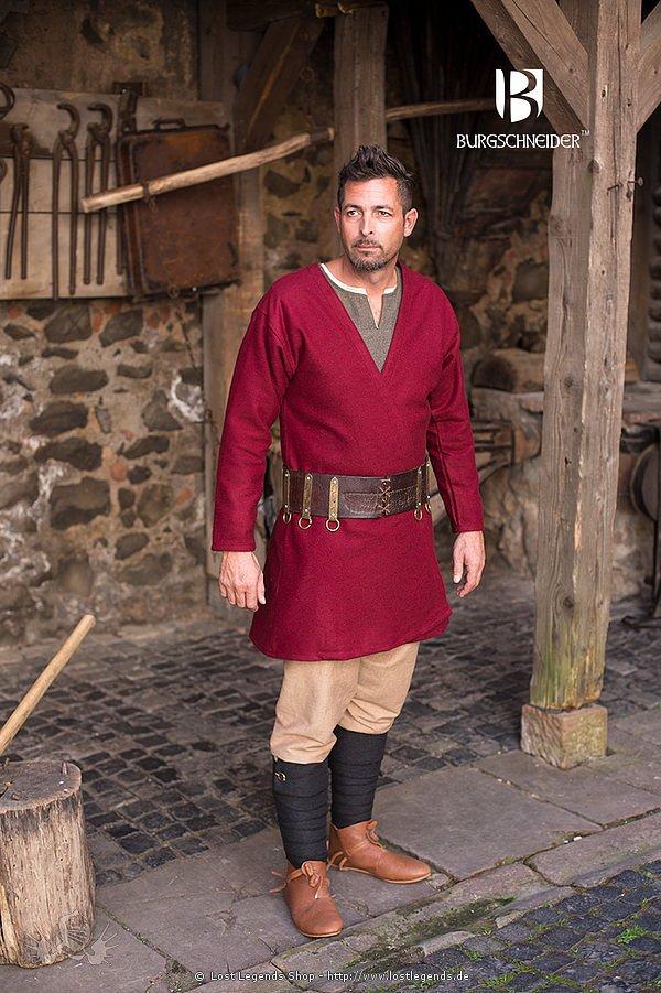 Mittelalterlicher Klappenrock Loki, Rot