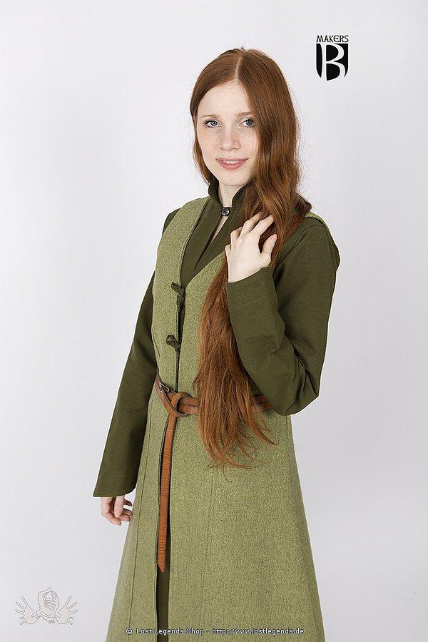 Medieval Coat Maiva, light green