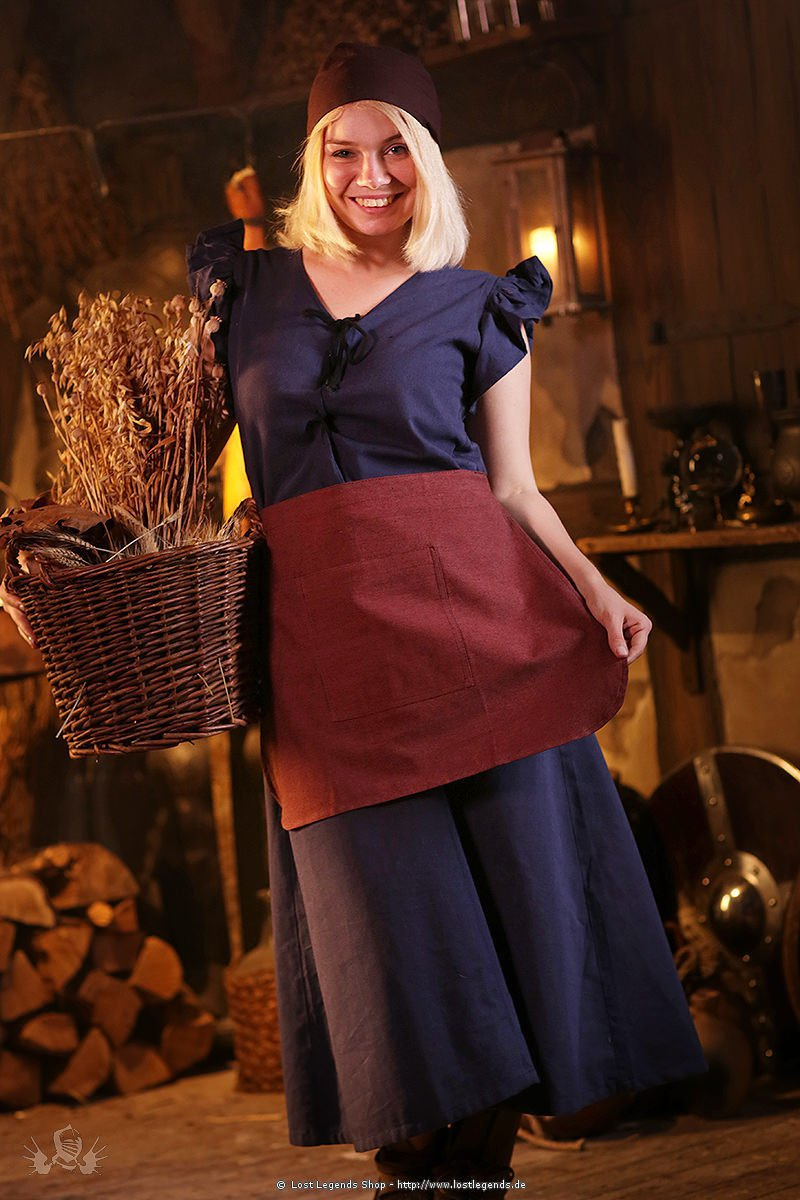 Medieval garment Agga, blue