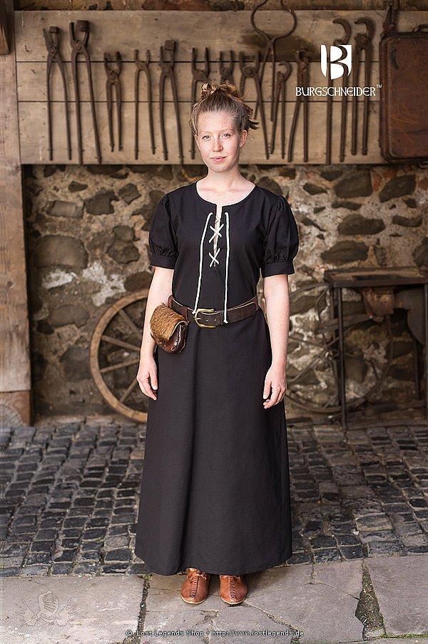 Mittelalterliches Frauengewand Gretl, schwarz