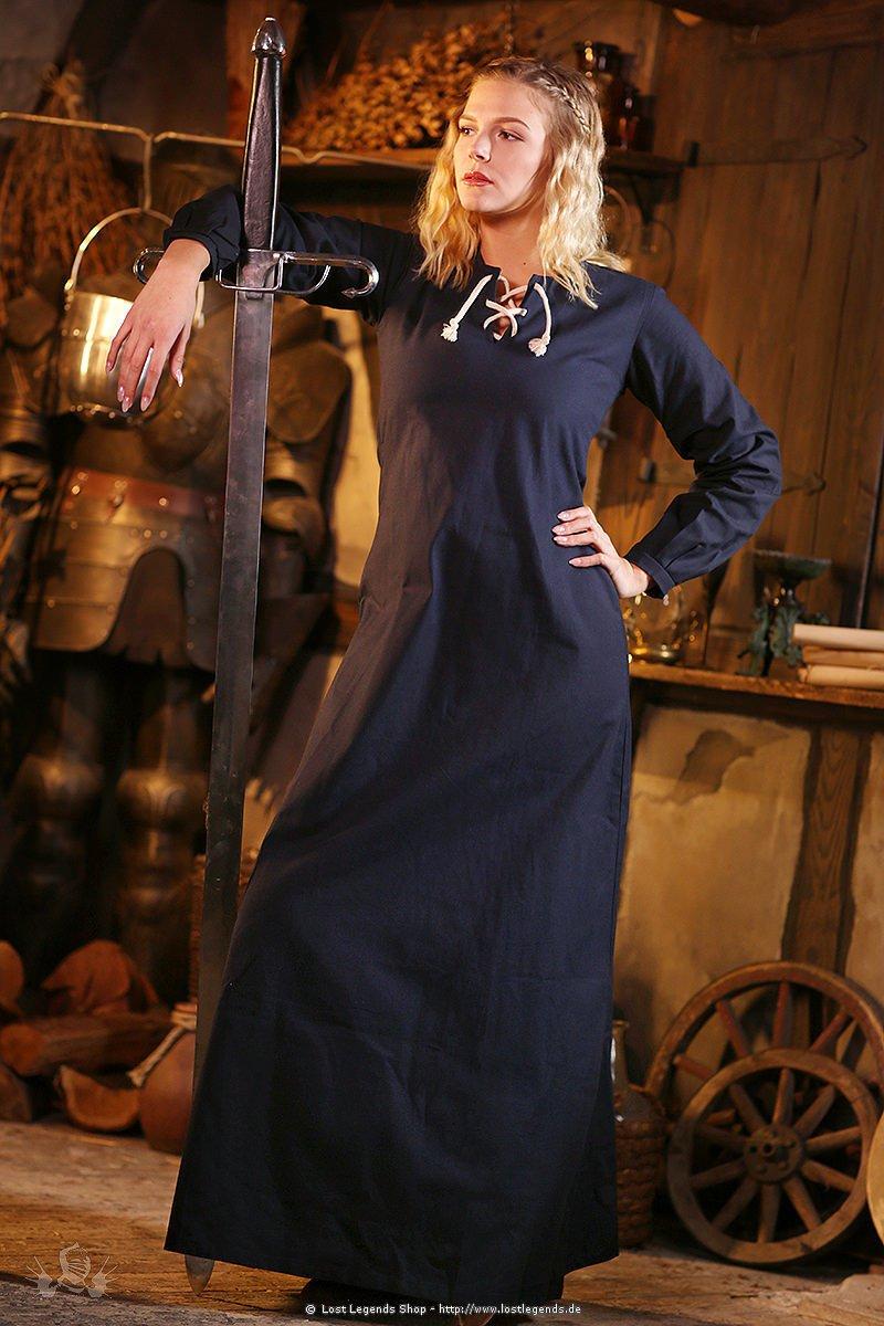 Mittelalterliches Gewand Cilie, dunkelblau