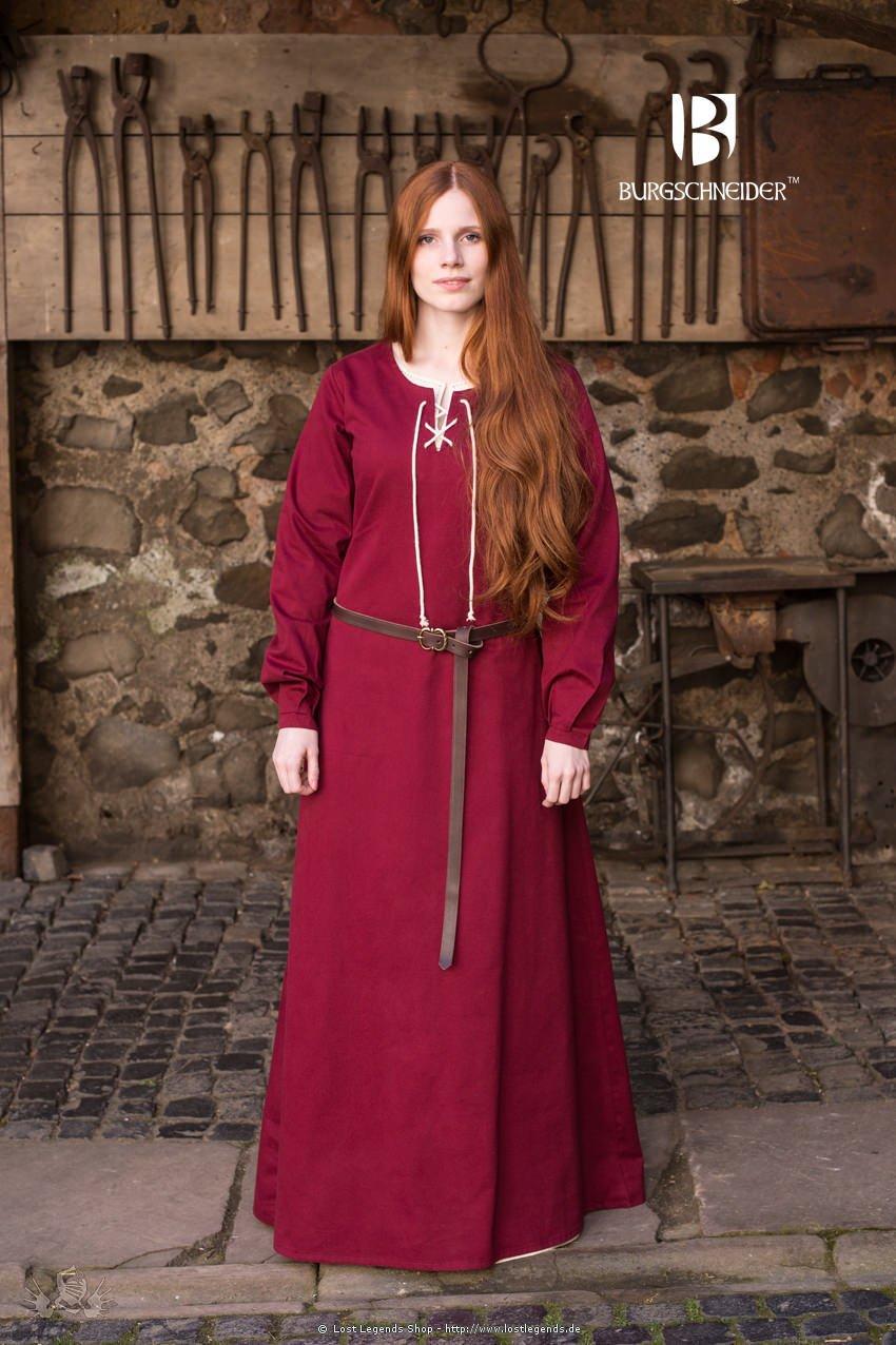 Mittelalterliches Gewand Cilie, Rot