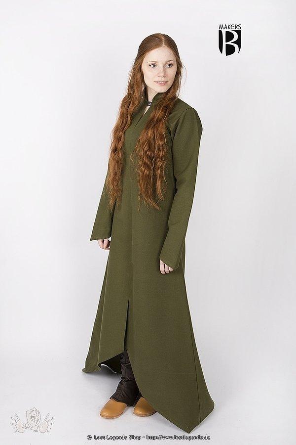 Mittelalterliches Gewand Ranwen, olivgrün