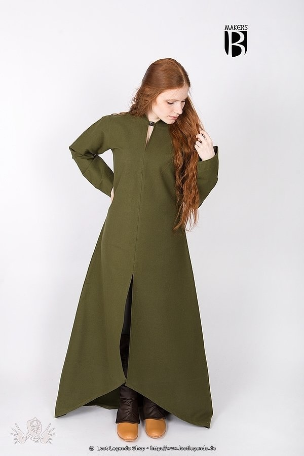Medieval Gown Ranwen, olive