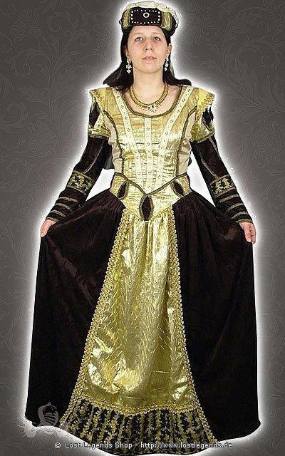 Mittelalterliches Königinnenkleid Kostüm