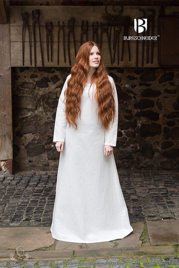 Mittelalterliches Leinenunterkleid Cotte Frigga, natur