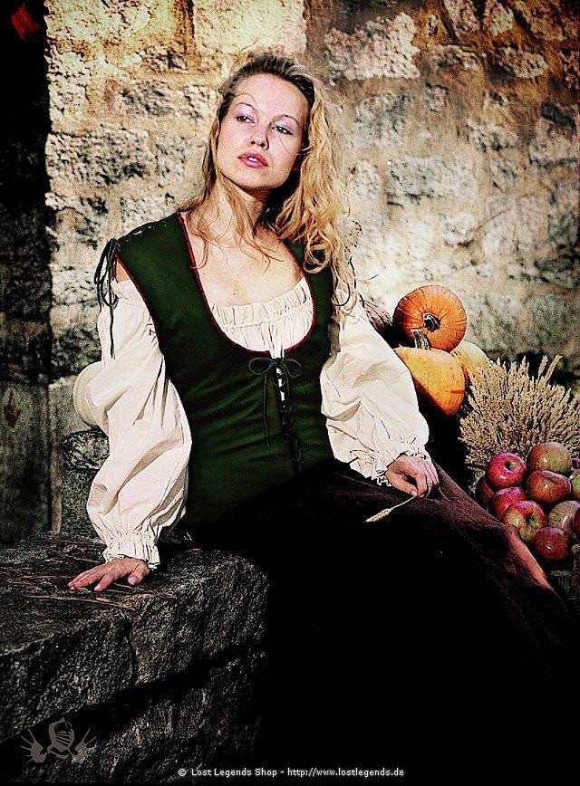 Mittelalterliches Schnürmieder Wildleder