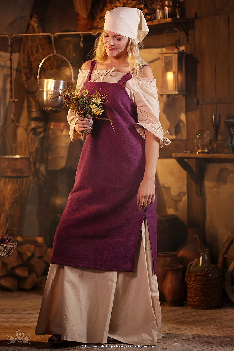 medieval outer garment Frida, purple