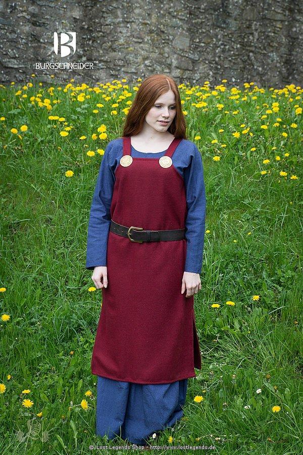 Mittelalterliches Trägerkleid Jodis, rot