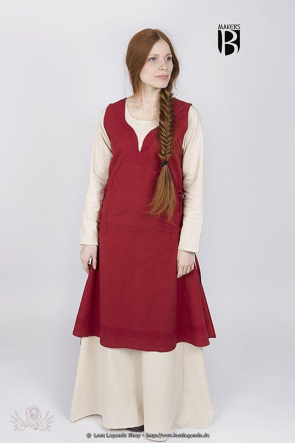 Mittelalterliches Überkleid Lannion, rot