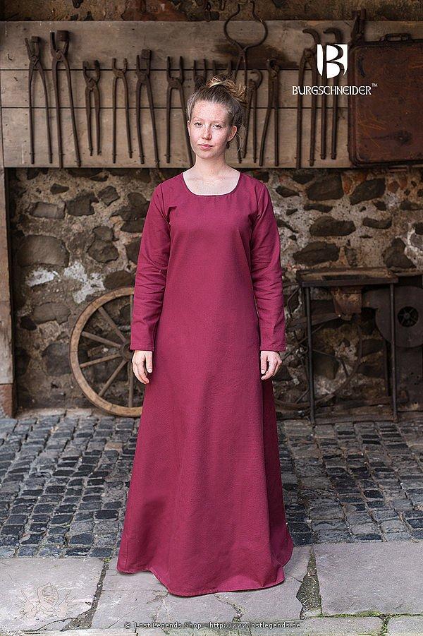 Mittelalterliches Unterkleid Freya, bordeaux