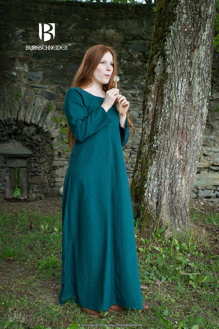 Mittelalterliches Unterkleid Freya, dunkelgrün