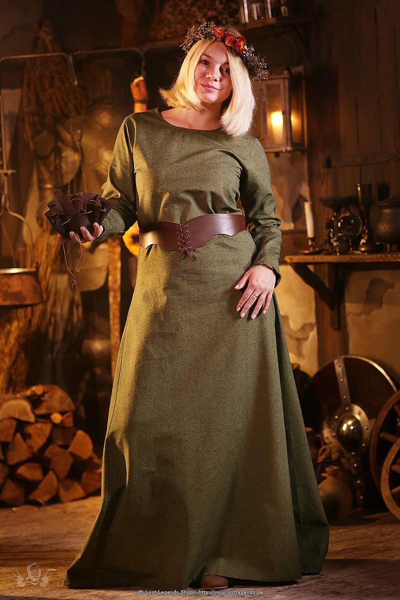 Mittelalterliches Unterkleid Freya, lindgrün