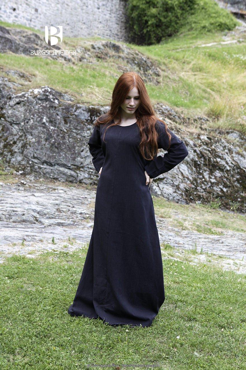 Mittelalterliches Unterkleid Freya, schwarz