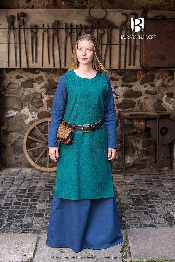 Mittelalterliches Unterkleid Freya, waidblau