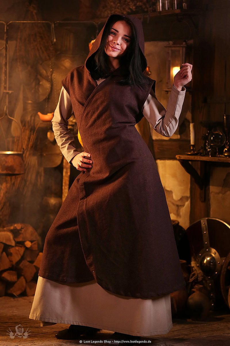 Mittelalterliches Wickelkleid Larpkleid Gerlin