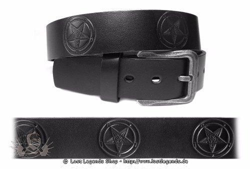 Mode Wichtig Leder-Gürtel Pentagramm