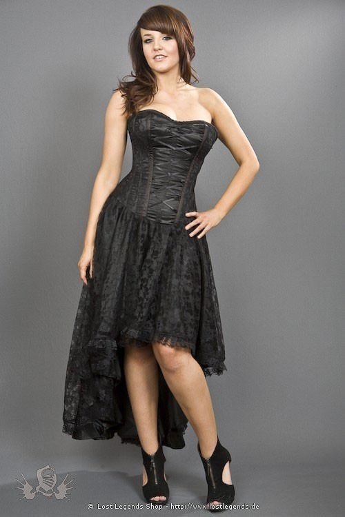 Mollflander Korsett-Kleid mit Spitze