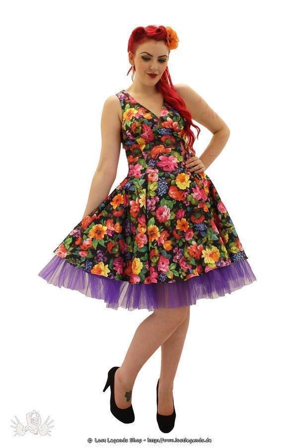 Monroe Floral Pinup Kleid