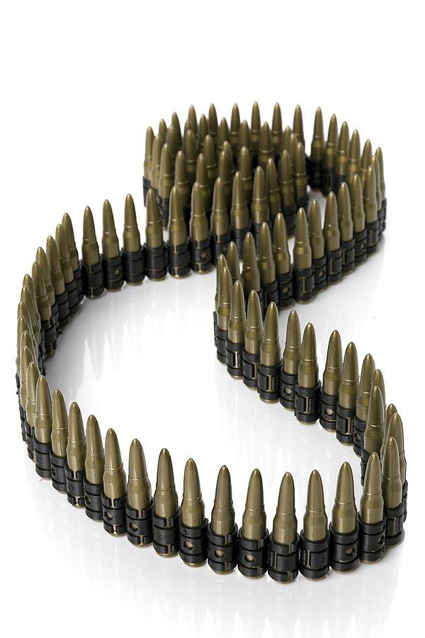 Munitionsgürtel gold/schwarz