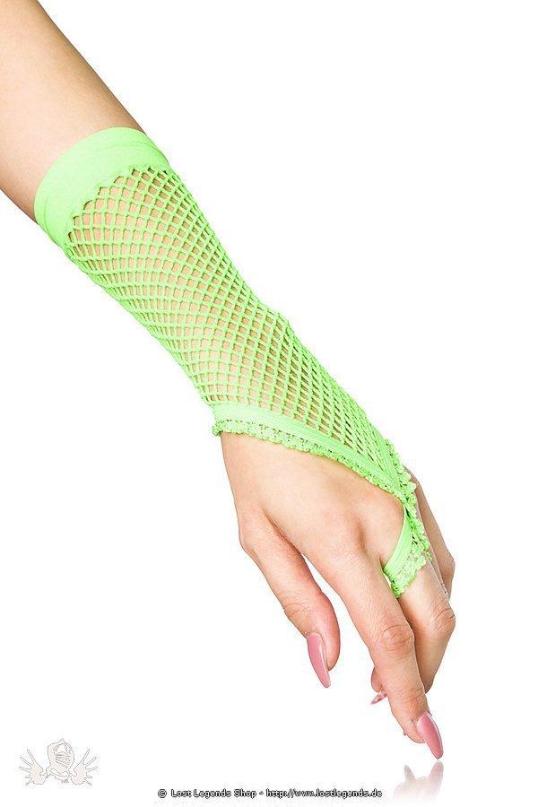Netzhandstulpen kurz grün