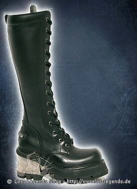 New Rock 14-eye Boots 236-S1, Black