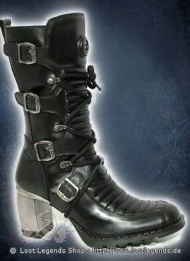 New Rock Tank Boots 6374-S1, Black