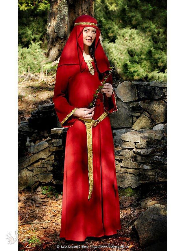 Normannisches Kleid mit Kopftuch Mittelalterkleid