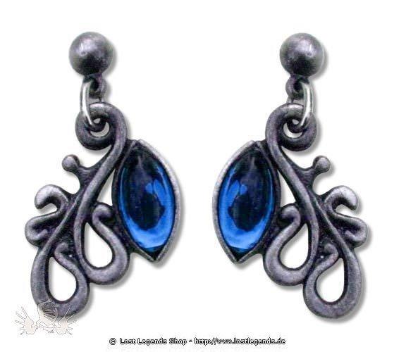 Ohrringe Ambers Arabesquen blau