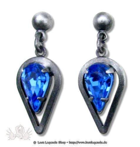 Ohrringe Celtic Spearhead blau