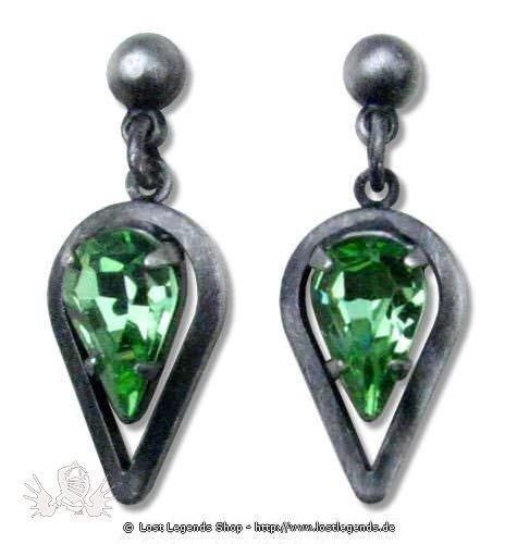 Ohrringe Celtic Spearhead grün