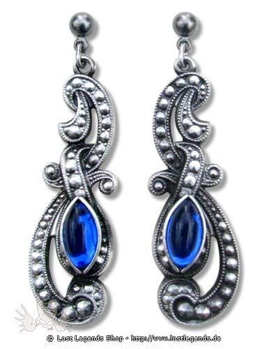 Ohrringe Eyes of Night blau