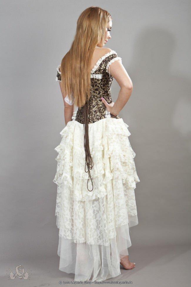 Ophelie Steampunk Korsett-Kleid Braun-Gold