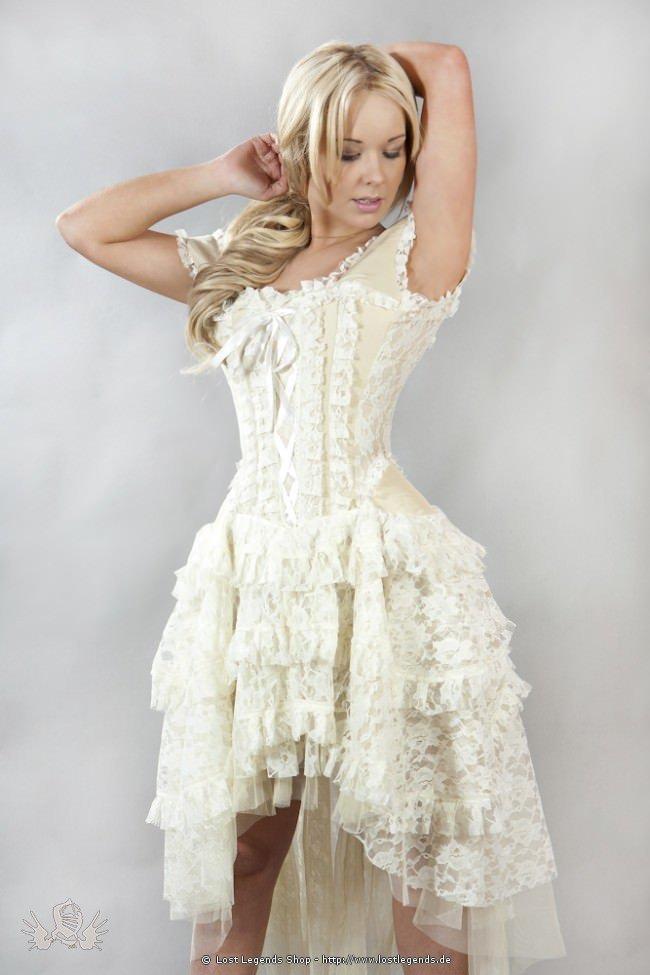 Ophelie Steampunk Korsett-Kleid Cream
