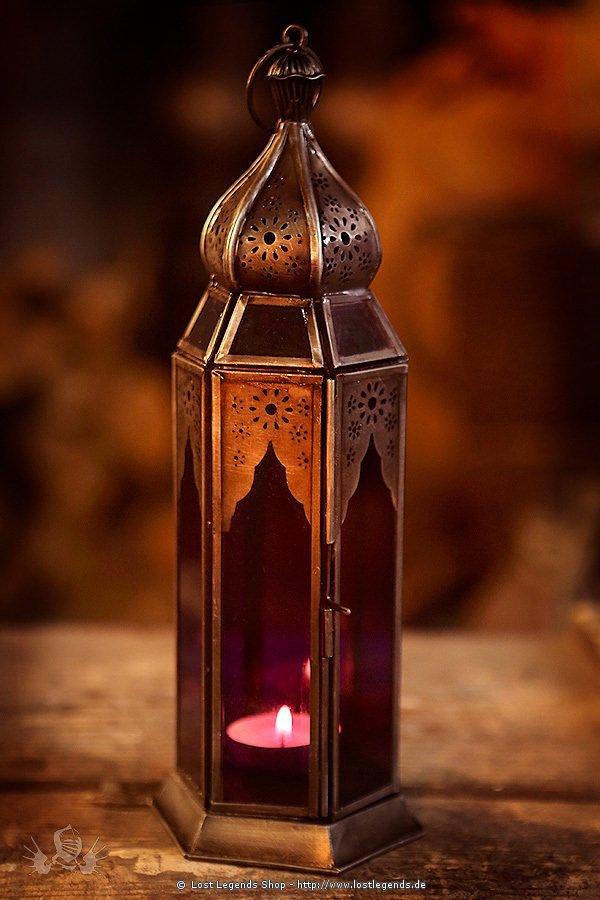 Orientalische Lampe verzinkt lila