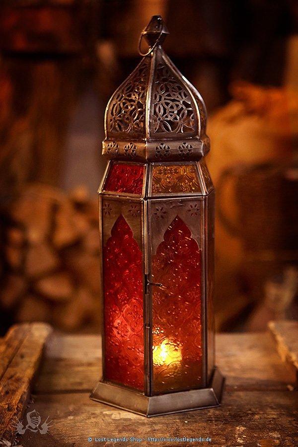 Orientalische Lampe verzinkt mehrfarbig
